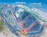2014-15 Mount Snow Sunbrook trail map