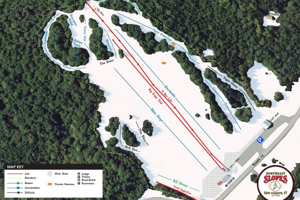 2017-18 Northeast Slopes Trail Map