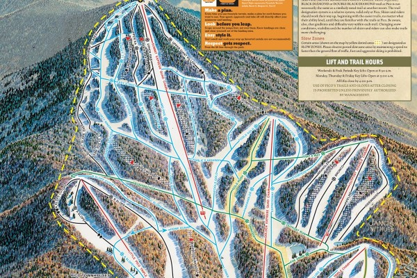 2017-18 Pico Trail Map
