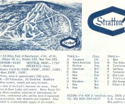 1964-65 Stratton Mountain Trail Map