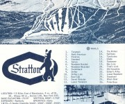 1967-68 Stratton Mountain Trail Map