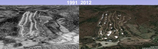 Mohawk Mountain Aerial Imagery, 1991 vs. 2012
