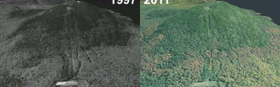 Bald Mountain Aerial Imagery, 1997 vs. 2011