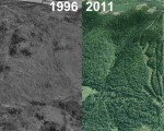 Big Rock Aerial Imagery, 1996 vs. 2011