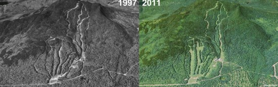 Squaw Mountain Aerial Imagery, 1997 vs. 2011