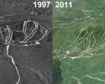 Sunday River Aerial Imagery, 1997 vs. 2011