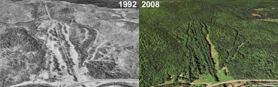 Berkshire Snow Basin Aerial Imagery, 1992 vs. 2008