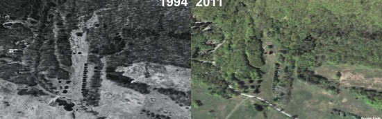 Jug End Aerial Imagery, 1994 vs. 2011