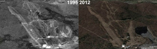 Mt. Tom Aerial Imagery, 1995 vs. 2012