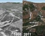 Alpine Ridge Aerial Imagery, 1998 vs. 2011