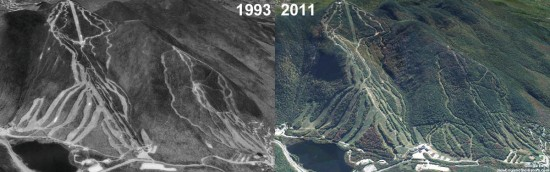 Cannon Mountain Aerial Imagery, 1993 vs. 2011