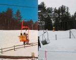 The King Pine Polar Bear Chairlift, 1960s vs. 2014
