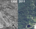Temple Mountain Aerial Imagery, 1998 vs. 2011