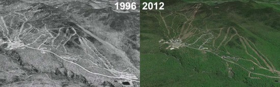Bolton Valley Aerial Imagery, 1996 vs. 2012