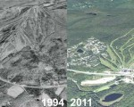 Bromley Mountain Aerial Imagery, 1994 vs. 2011
