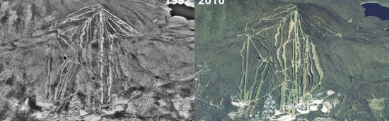 Mount Snow Aerial Imagery, 1992 vs. 2010
