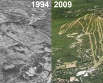 Okemo Aerial Imagery, 1994 vs. 2009