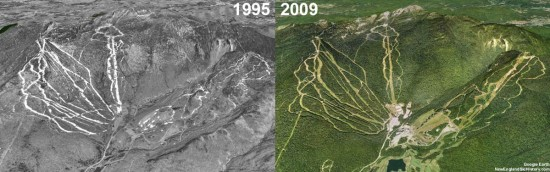 Stowe Aerial Imagery, 1995 vs. 2009