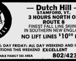 Dutch Hill ad in January 24, 1985 Norwalk Hour